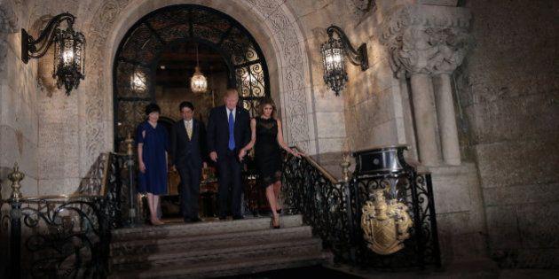 La cena de Trump y Abe: mojitos y palmeras para gestionar una crisis