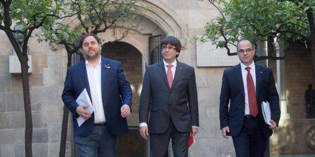 Junqueras, Puigdemont y