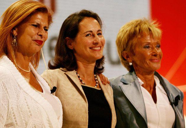 Carmen Alborch y Mª Teresa Fernandez de la Vega con Segolene Royal