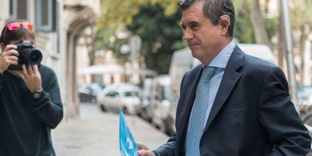 El expresidente del Govern balear Jaume Matas, a su llegada el lunes a la Audiencia de
