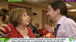 La bronca entre Pablo Iglesias y Celia Villalobos que han captado las