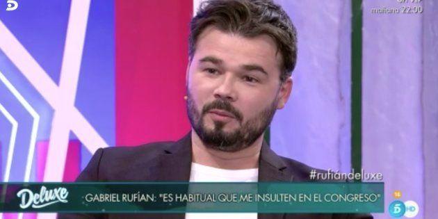 Las 8 confesiones de Rufián durante su paso por 'Sábado