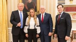 Trump exige a Venzuela que libere a Leopoldo López tras recibir a Tintori en la Casa