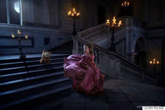 Un padre sorprende a su hija con una sesión de fotos de 'La Bella y la