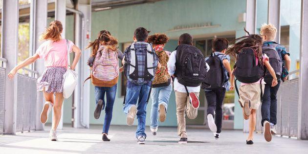 Un grupo de niños de Primaria, en una imagen de