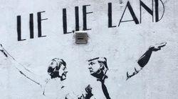 'Lie Lie Land', la parodia de una grafitera con Donald Trump y Teresa