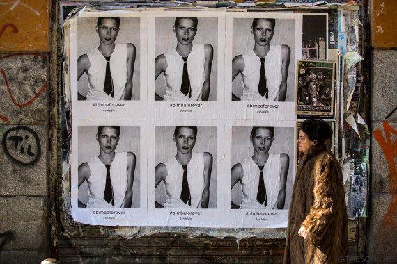 La imagen de Bimba Bosé toma Madrid en un homenaje de David Delfín por la