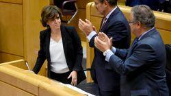 Santamaría defiende en el Senado la aplicación del 155 para