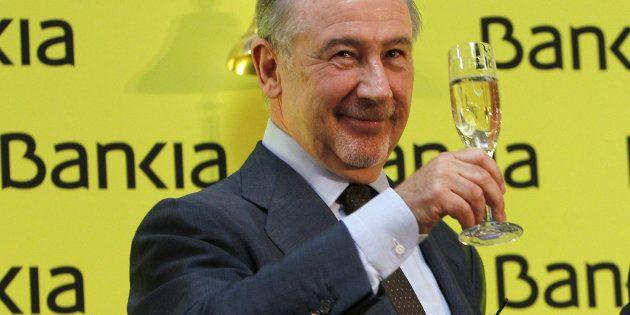 Rodrigo Rato, exvicepresidente del Gobierno y de Bankia, en un acto de la