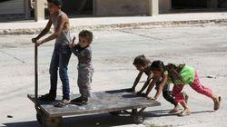 La esperanza por Siria, en las risas de unos niños de Alepo