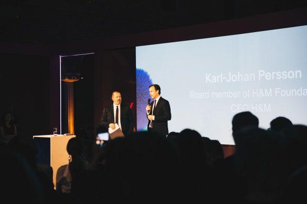 Karl-Johan Persson, CEO de H&M durante de la gala del Global Change Award en