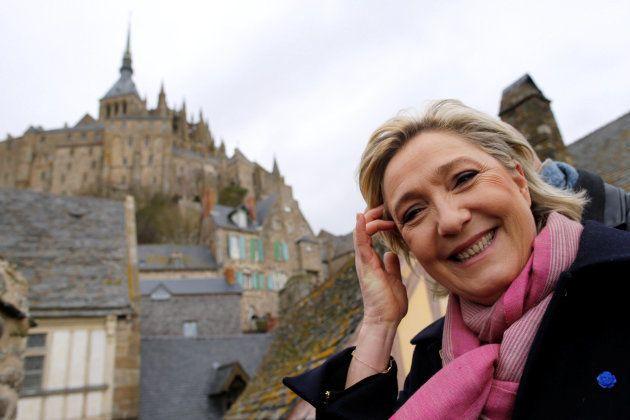 Marine Le Pen, en un acto de