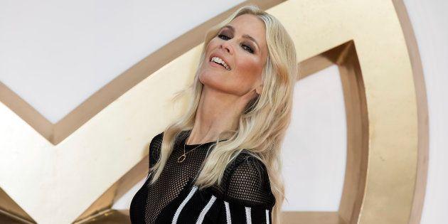 La modelo Claudia Schiffer, en el estreno de 'Kingsman: El círculo dorado' en Londres el 18 de septiembre...