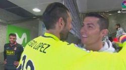 Cristiano Ronaldo vacila a Diego López por su exceso de