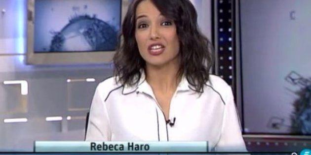 Un micro abierto le juega una mala pasada a esta presentadora de
