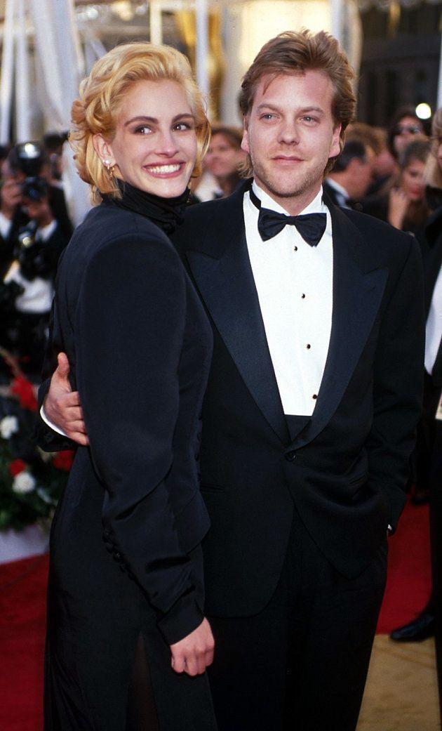 Julia Roberts y Kiefer Sutherland en los Oscar de