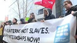 Los becarios europeos piden ante la UE el final de las prácticas no