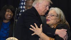 Trump abraza a la sobrina de Martin Luther