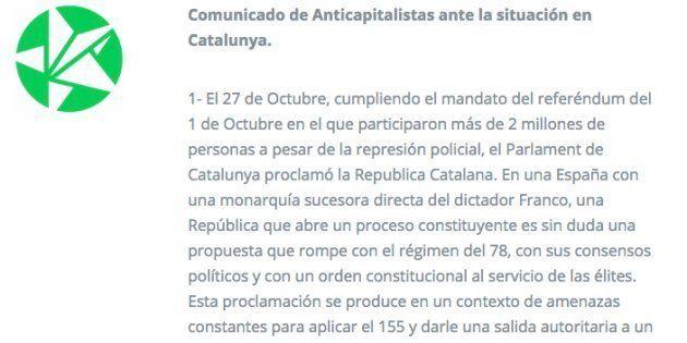 El sector Anticapitalistas de Podemos habla de