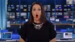 El susto de esta presentadora tras una pifia