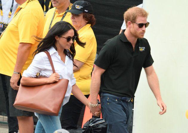 Meghan Markle y el príncipe Harry en los Juegos