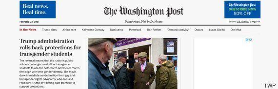 The Washington Post estrena eslogan para defender la democracia en la