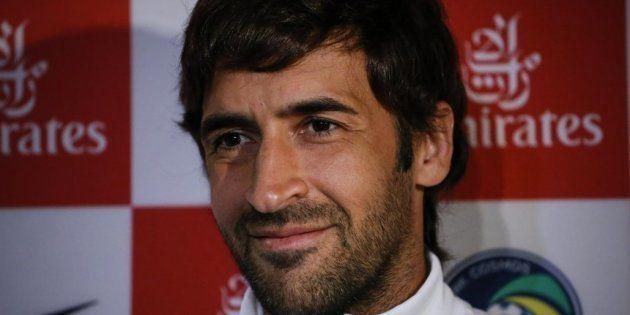 Raúl, en el descanso del Bayern-Real Madrid: