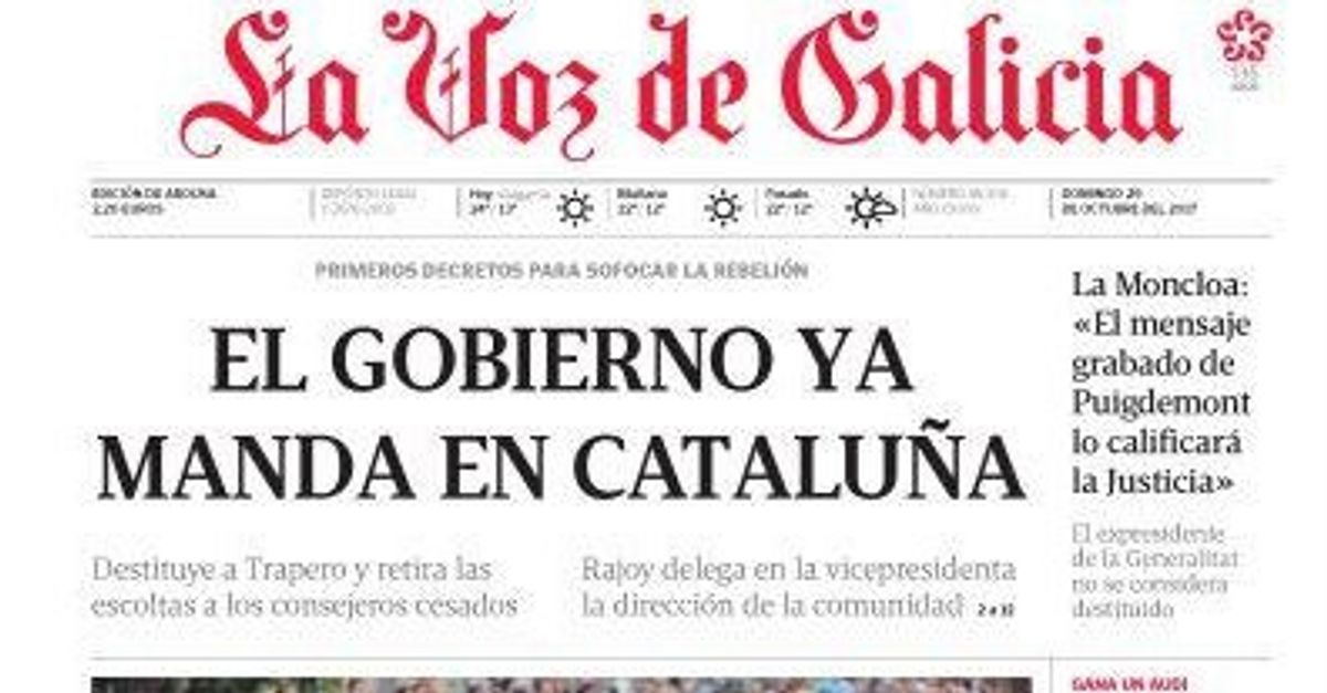 Cachondeo Por La Foto Publicada Junto A Este Titular En La Voz De Galicia El Huffpost