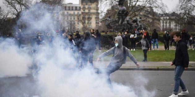 Disturbios en una manifestación en París contra la violencia