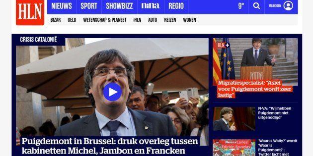 Así está contando la prensa belga la polémica visita de