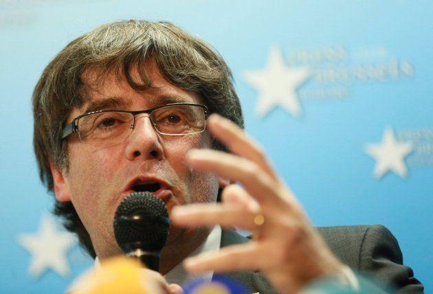 El expresidente de la Generalitat de Cataluña este martes en