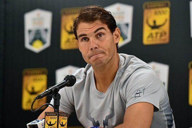 El tenista español Rafael Nadal ofrece una rueda de