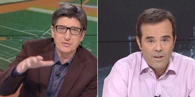 Juan Carlos Rivero y Paco Grande, de TVE, a tortas en