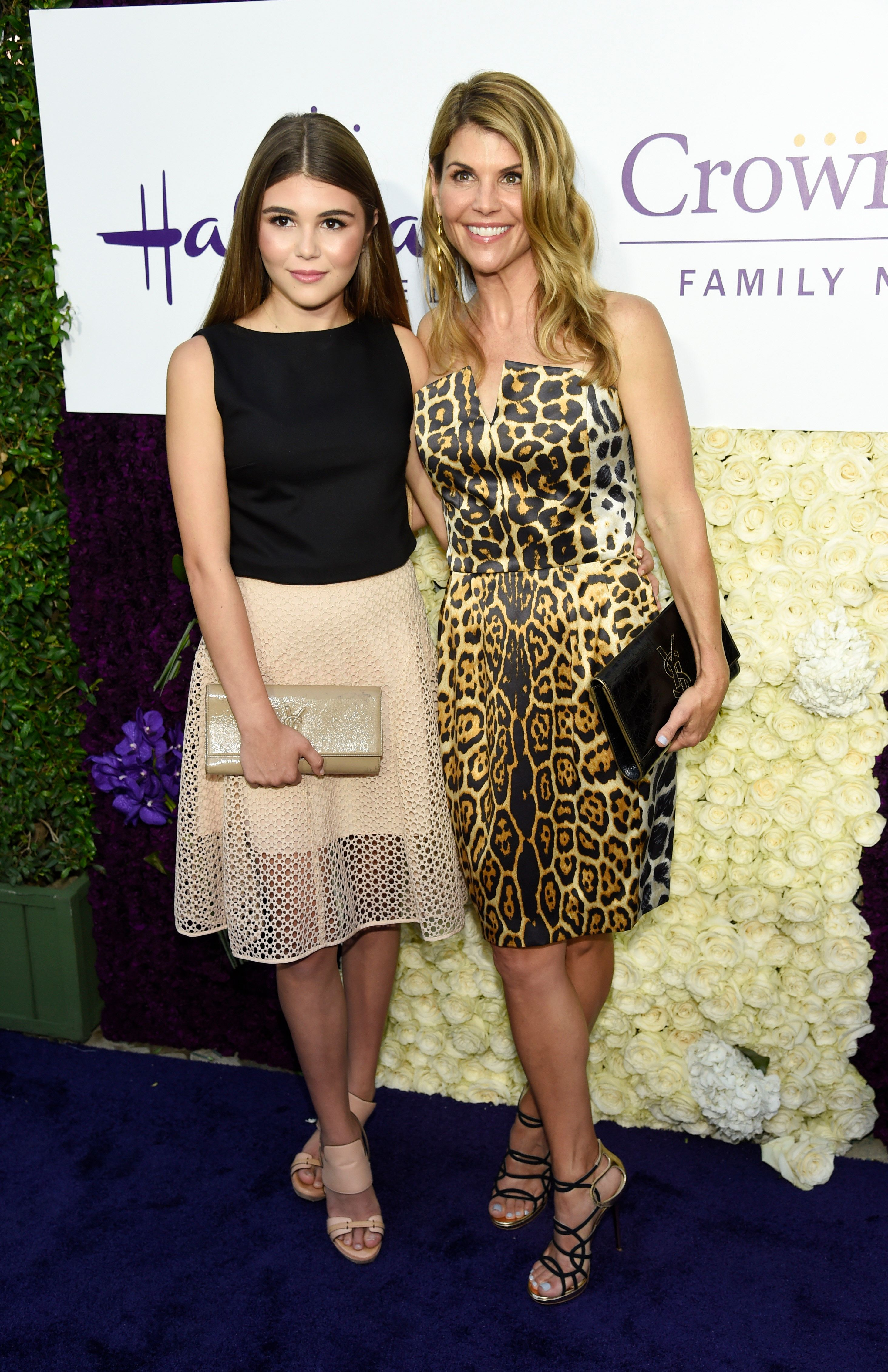 Actress Lori Laughlin poses with her daughter Olivia Jade at the Crown Media Family Networks Television Critics Association party on Wednesday, July 29, 2015, in Beverly Hills, Calif. (Photo by Chris Pizzello/Invision/AP)