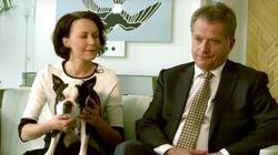 El perro del presidente de Finlandia conquista al mundo