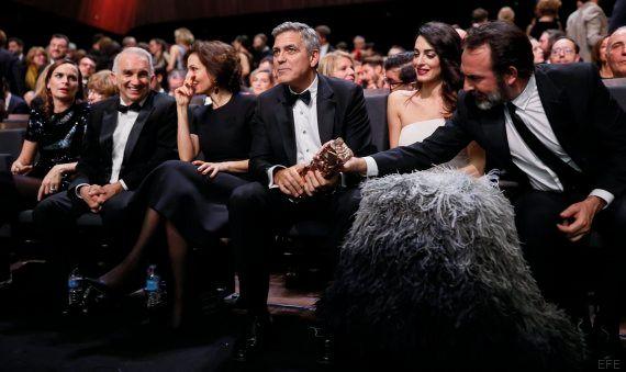 La gala de los premios César, marcada por las protestas de Clooney contra