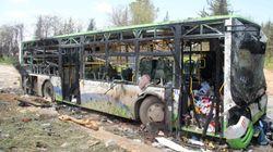 68 niños entre las 112 víctimas del atentado contra un convoy en