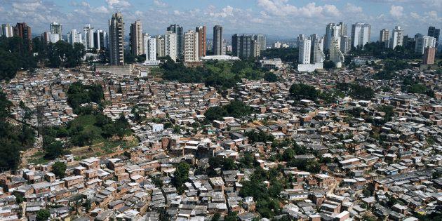 Vista de una 'favela' en Sao Paulo