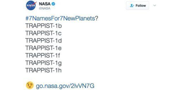 La NASA pide ayuda para nombrar los 7 nuevos planetas y pasó lo