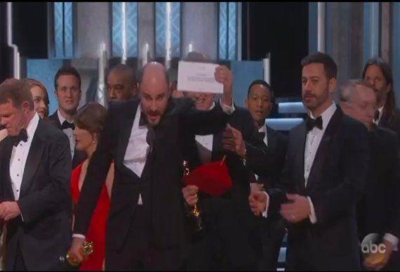 Fallo histórico en los Oscar: anuncian ganadora a 'La La Land' cuando era