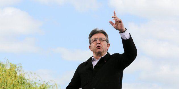 Jean-Luc Melenchon, candidato de Francia insumisa, durante un mitin en Toulouse el 16 de abril de