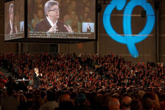El mitin de Mélenchon en Lille el 12 de abril reunió a 25.000