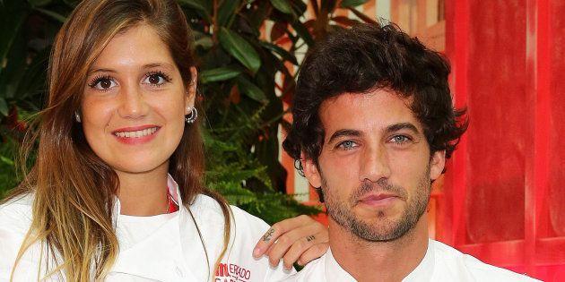 El ganador de la quinta edición de 'Masterchef', Jorge Brazalez, y su pareja, Miri de Pérez, en la inauguración...