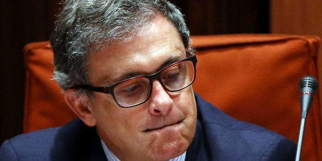 Jordi Pujol Ferrusola, durante su comparencia en la comisión de investigación del Parlament