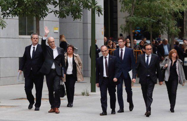 El día que la Audiencia Nacional mandó a la cárcel a Junqueras y siete exconsellers por el