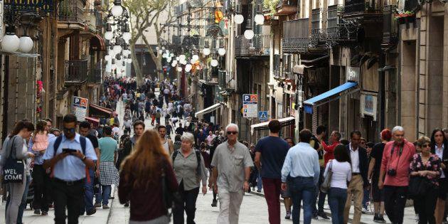 Una calle del barrio Gótico de