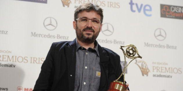Jordi Évole critica a TVE por poner una bandera de España en todos sus