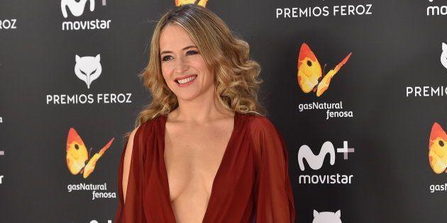Marta Larralde durante los premios en