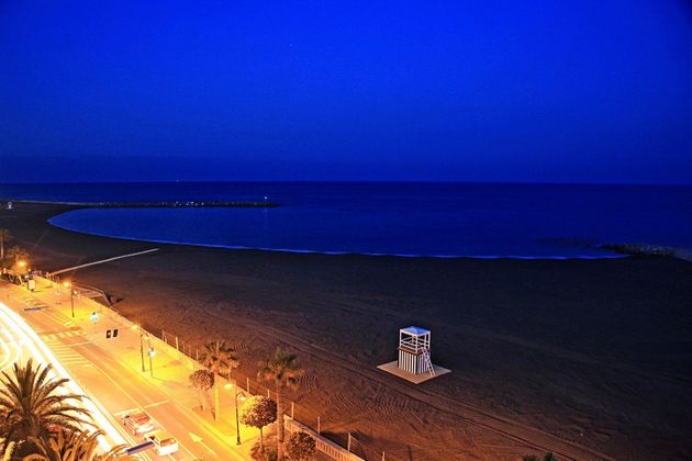 Vista de la playa al