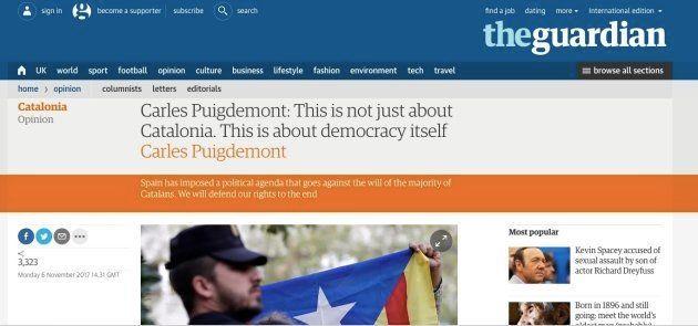 Puigdemont denuncia la